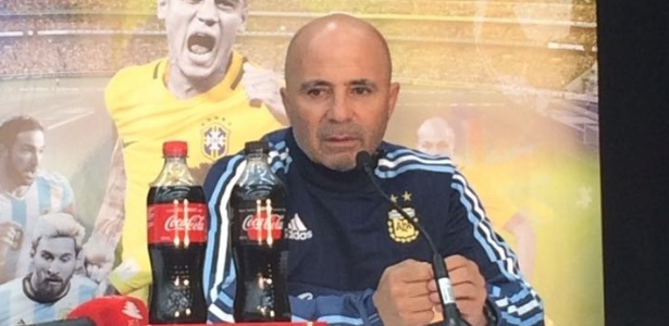 Sampaoli, técnico da Argentina, concede entrevista coletiva em Mebourne, na Austrália