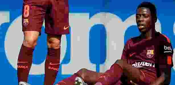 Dembelé sofreu uma lesão no músculo posterior da coxa esquerda em outubro - Paul Hanna/Reuters