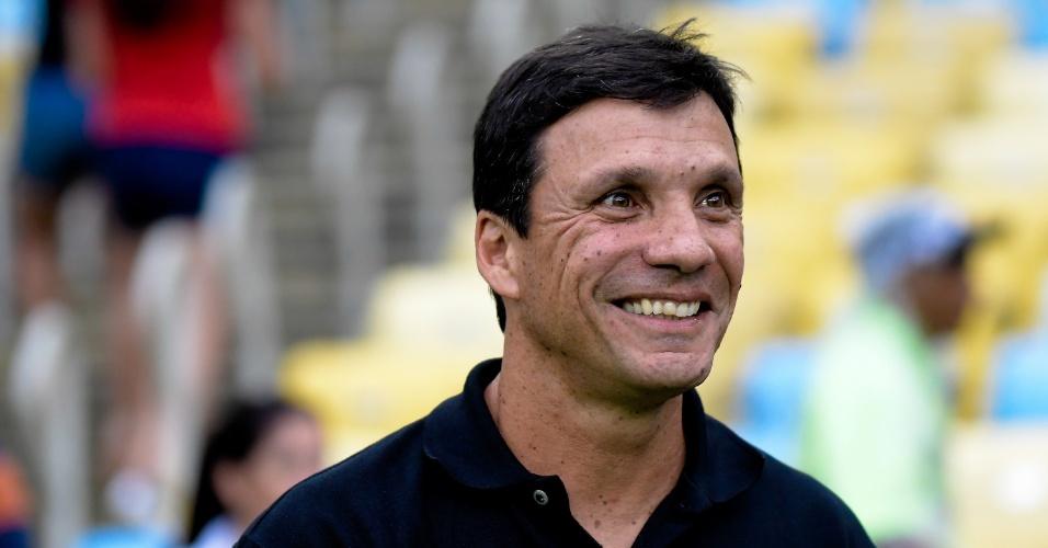 O técnico Zé Ricardo durante o jogo entre Flamengo e Vasco pelo Campeonato Carioca