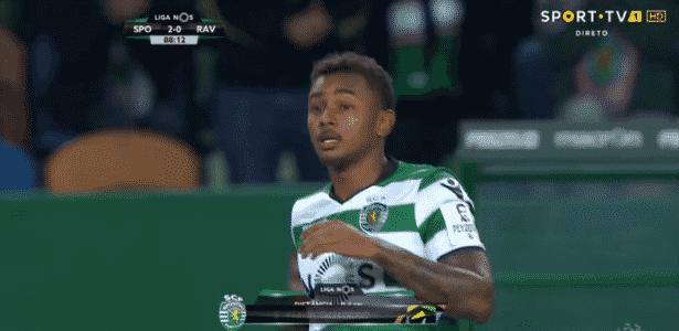 Pelo Sporting, Wendel entra em campo pela primeira vez  - Reprodução/TV - Reprodução/TV