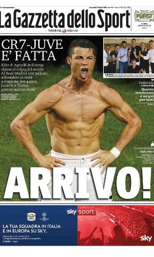 CR7 foi destaque nos jornais italianos