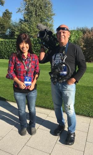 Kiyomi Nakamura repórter seleção brasileira foto 1