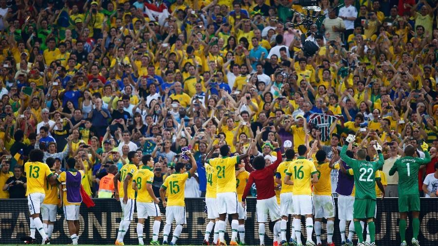 Última vez que a seleção brasileira principal atuou no Maracanã foi em junho de 2013, na conquista da Copa das Confederações - REUTERS/Kai Pfaffenbach