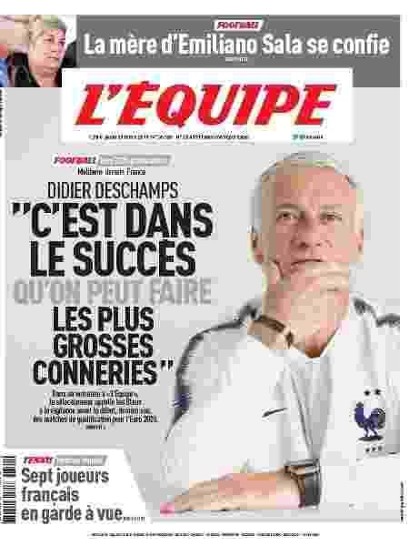 """Declaração foi dada em entrevista publicada pelo jornal L""""Équipe de hoje (foto) - Reprodução"""