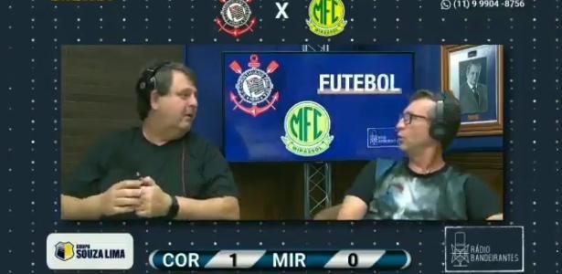 Neto vai à loucura com gol do Corinthians e assusta narrador
