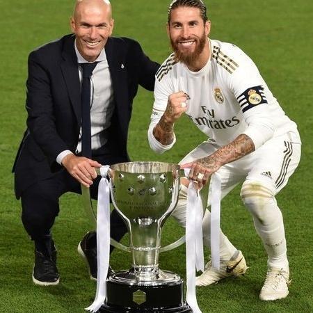 Sérgio Ramos com Zidane - LaLiga