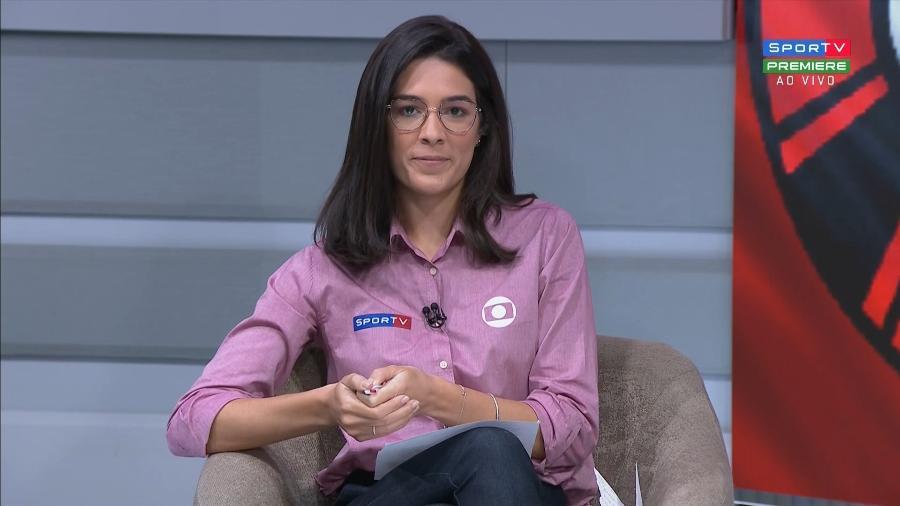 Renata Silveira foi ofendida por um torcedor do Botafogo após a eliminação da equipe na Copa do Brasil - Reprodução/SporTV