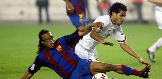 Daniel Alves quando atuava pelo Sevilla: exemplo dentro do clube