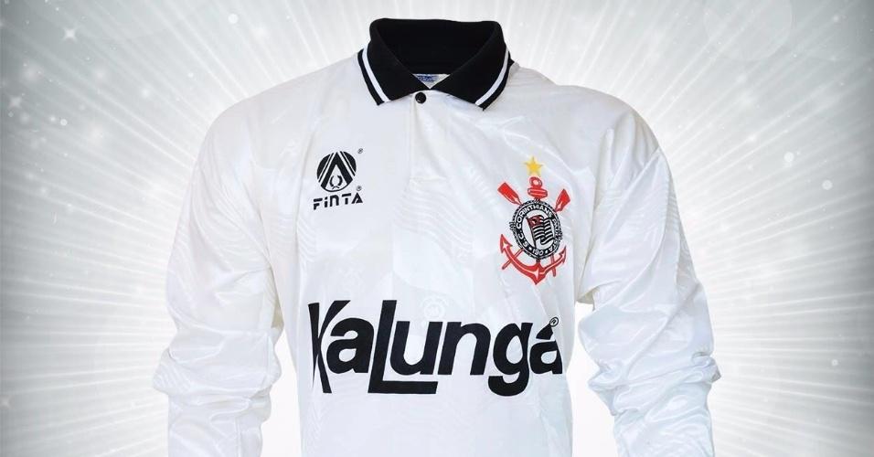 Camisa do Corinthians da final do Paulista de 1993 utilizada por Paulo Sérgio
