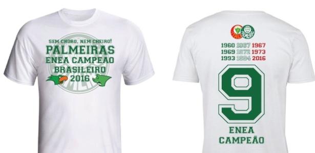 Palmeiras tem camisa de título alusiva à brincadeira promovida pela torcida do Flamengo