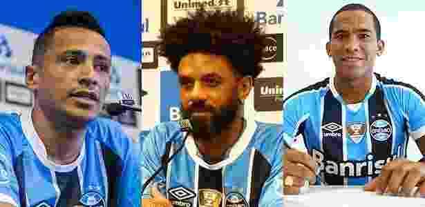 Cícero, Cristian e Jael foram inscritos pelo Grêmio para reta final da Copa Libertadores - Arte/UOL