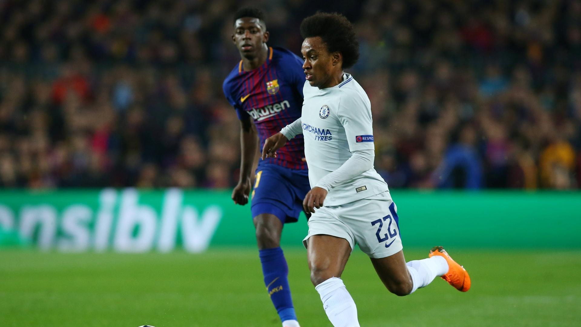 Willian foi um dos destaques do Chelsea no primeiro tempo