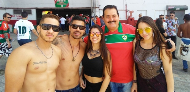 Baladeiros se encontraram com torcedores que chegaram para o clássico entre Portuguesa e Juventus