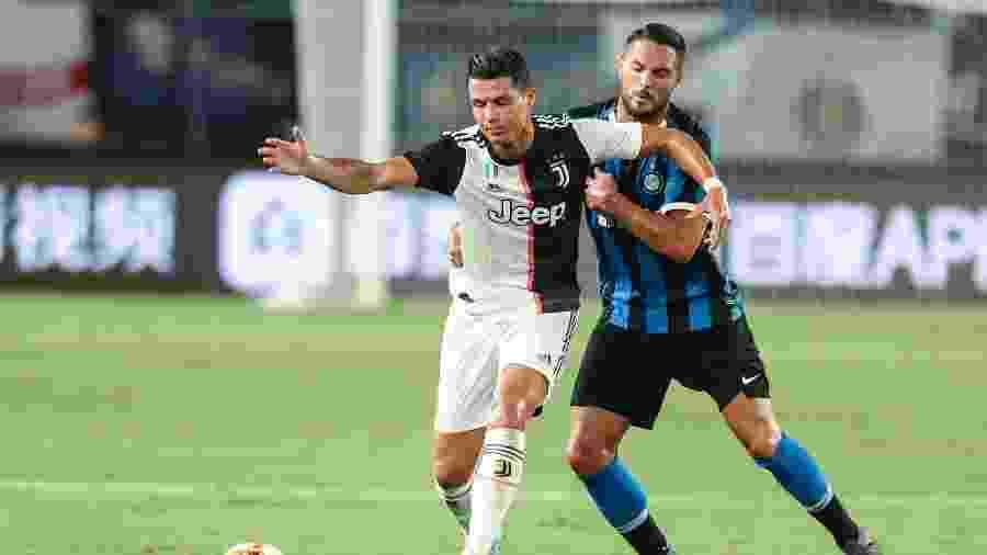 Cristiano Ronaldo durante jogo Juventus x Inter de Milão - Yang Lei/Xinhua