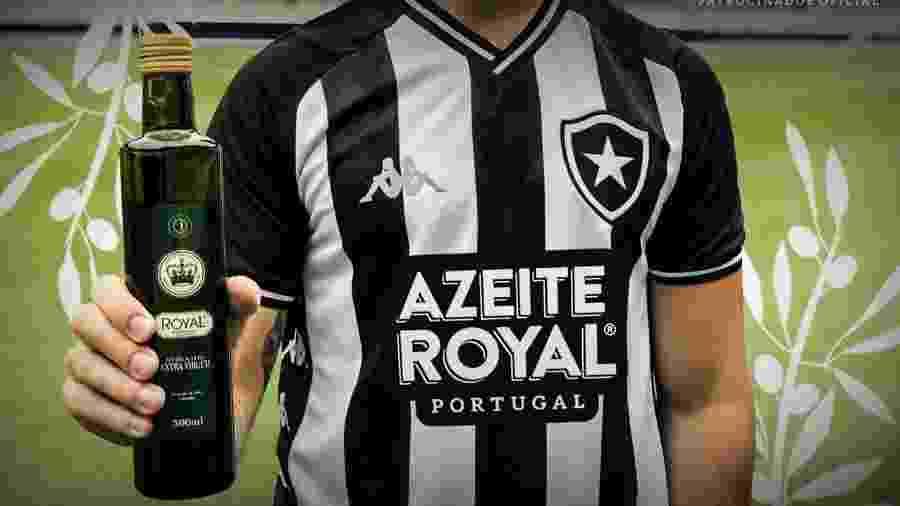 Botafogo ampliou patrocínio com azeite Royal, que terá marca estampada na parte da frente da camisa - Divulgação/BFR