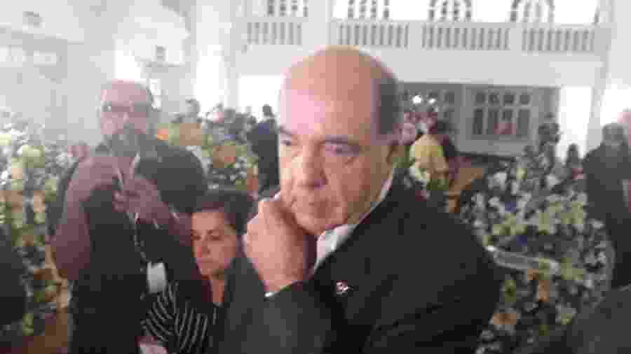Presidente do Botafogo, Nelson Mufarrej esteve presente no velório de Valdir Espinosa em General Severiano - Alexandre Araújo / UOL Esporte