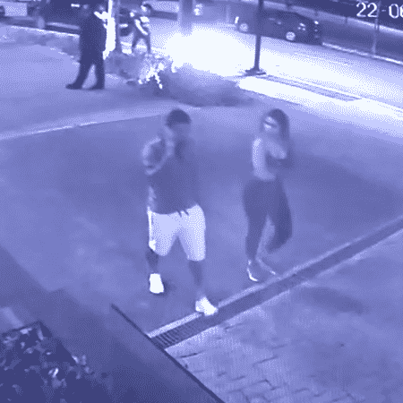Câmera de segurança mostra confusão entre Dudu e sua esposa - Reprodução