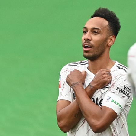 Aubameyang não atuou nas duas últimas partidas do Arsenal - Justin Tallis/Reuters