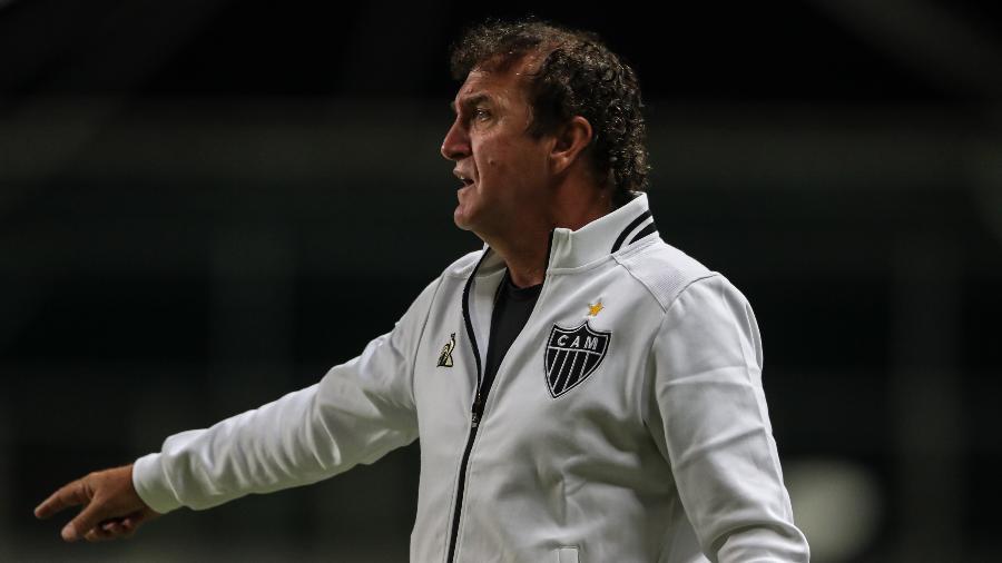 Técnico Cuca durante a partida do Atlético-MG neste sábado (24) - Pedro Souza/ Atlético-MG