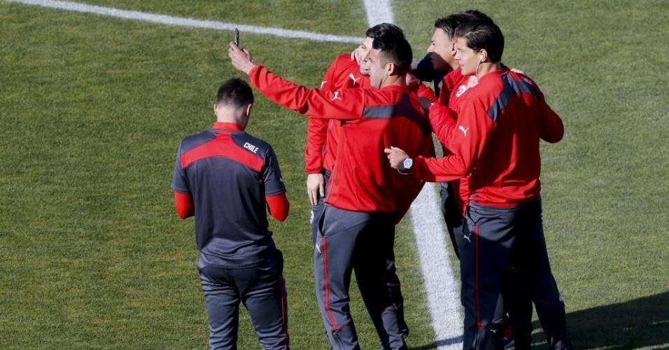 Jogadores do Chile tiram