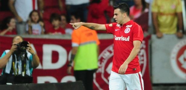 Andrigo comemora gol do Inter pelo Campeonato Gaúcho contra o Brasil de Pelotas - Ricardo Duarte/Internacional