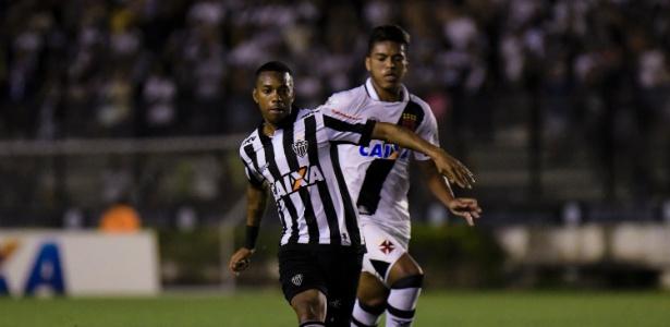 O atacante Robinho em ação pelo Atlético-MG