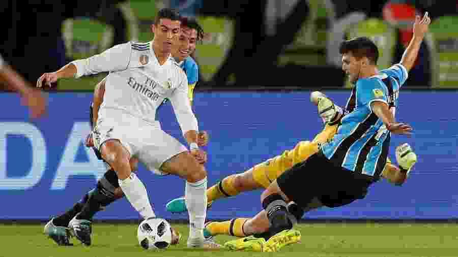 O Grêmio enfrentou o Real Madrid de Cristiano Ronaldo na final do Mundial de Clubes em 2017 - REUTERS/Amr Abdallah Dalsh