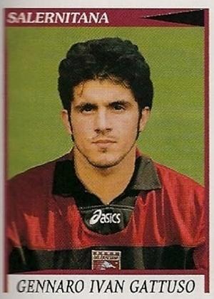 GENNARO GATTUSO, técnico do Milan, jogava na Salernitana antes de virar ídolo rossonero