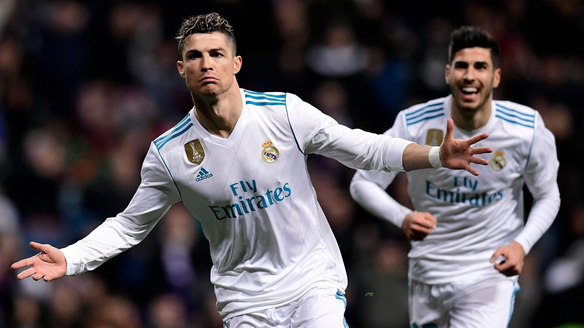Cristiano Ronaldo comemora gol do Real sobre o Girona