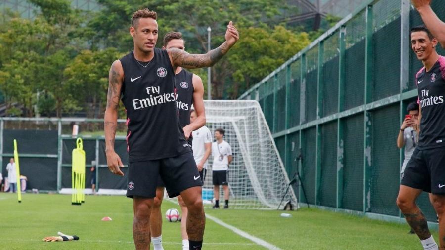 Neymar participa de treino para início de mais uma temporada no PSG - Divulgação/PSG