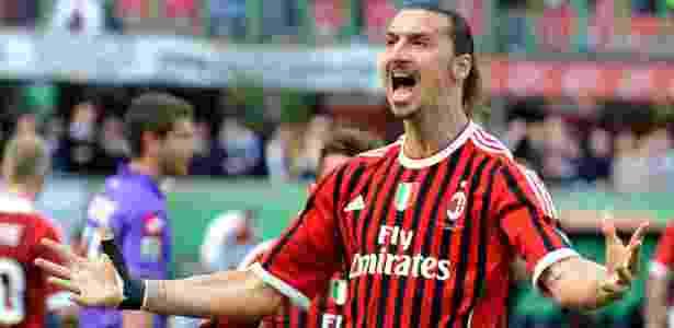 Em sua passagem pelo Milan, Ibrahimovic atuou em 85 partidas e marcou 56 gols - Claudio Villa/Getty Images