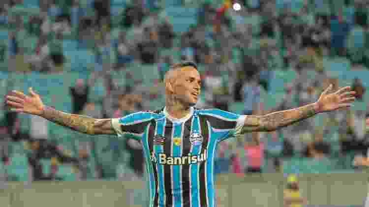 Luan, durante partida entre Grêmio e São Luiz - Lucas Sabino/AGIF - Lucas Sabino/AGIF