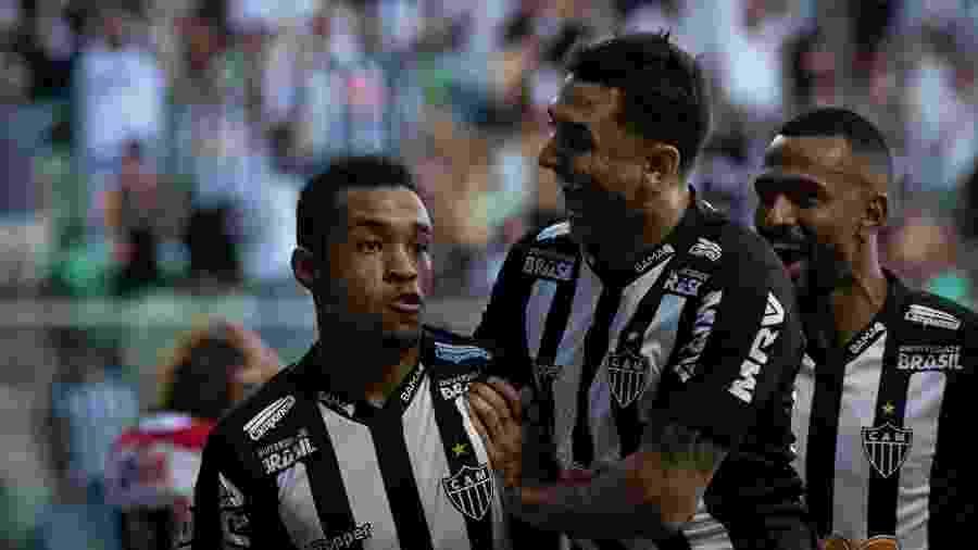 Alerrandro comemora gol do Atlético-MG diante do Villa Nova pelo Campeonato Mineiro 2019 - Marcelo Alvarenga/AGIF