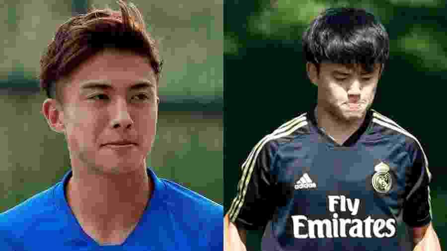 Hiroki Abe e Takefusa Kubo são duas promessas da seleção do Japão - Quality Sport Images/Getty Images e TF-Images/Colaborador