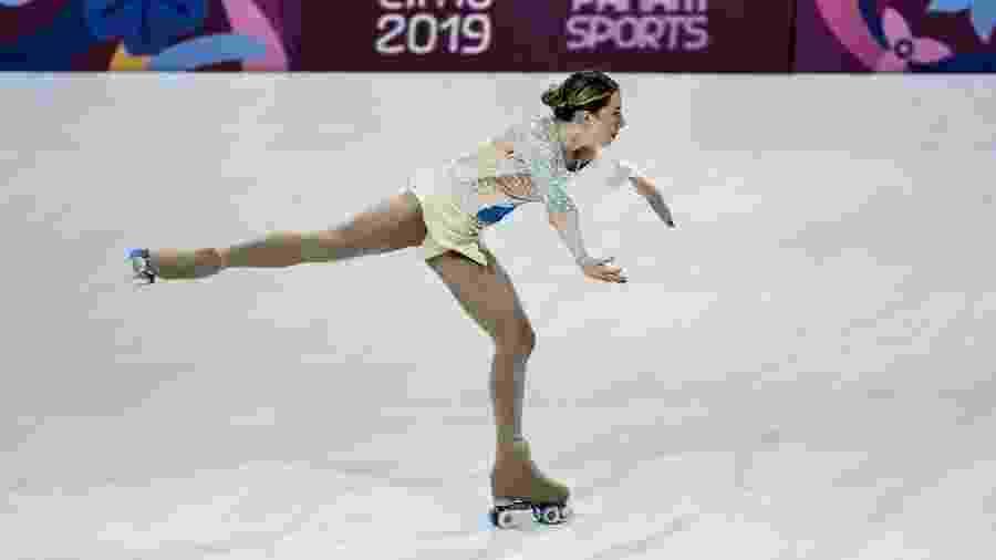Bruna Wurts, durante apresentação da patinação artística no Pan de Lima 2019 - Washington Alves/COB