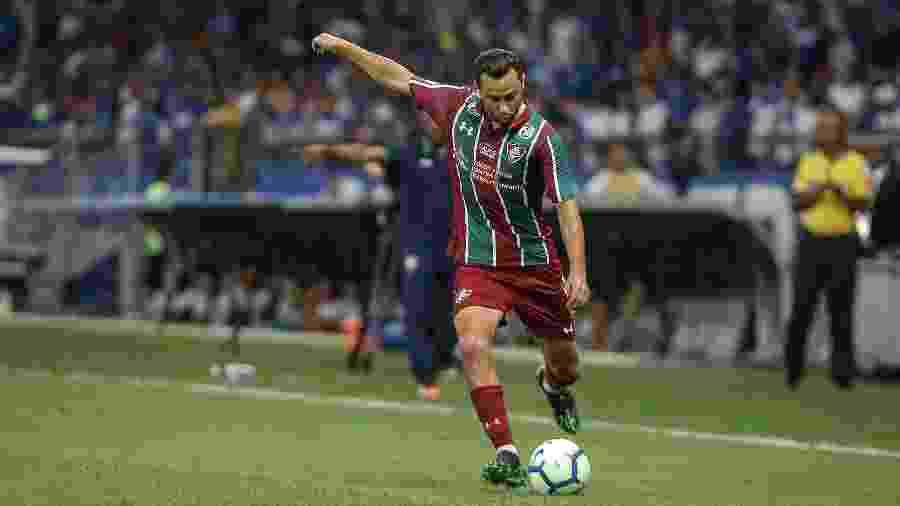 Nenê comemorou empate do Fluminense com o Cruzeiro no Mineirão - Lucas Merçon/Fluminense