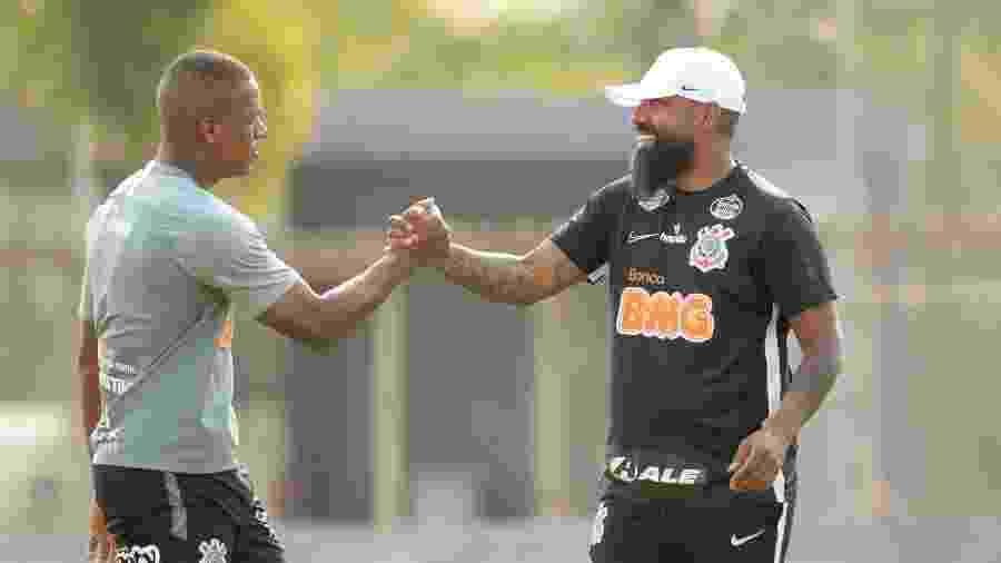 Dyego Coelho comanda o time interinamente contra os baianos na Neo Química Arena - Rodrigo Coca/Agência Corinthians