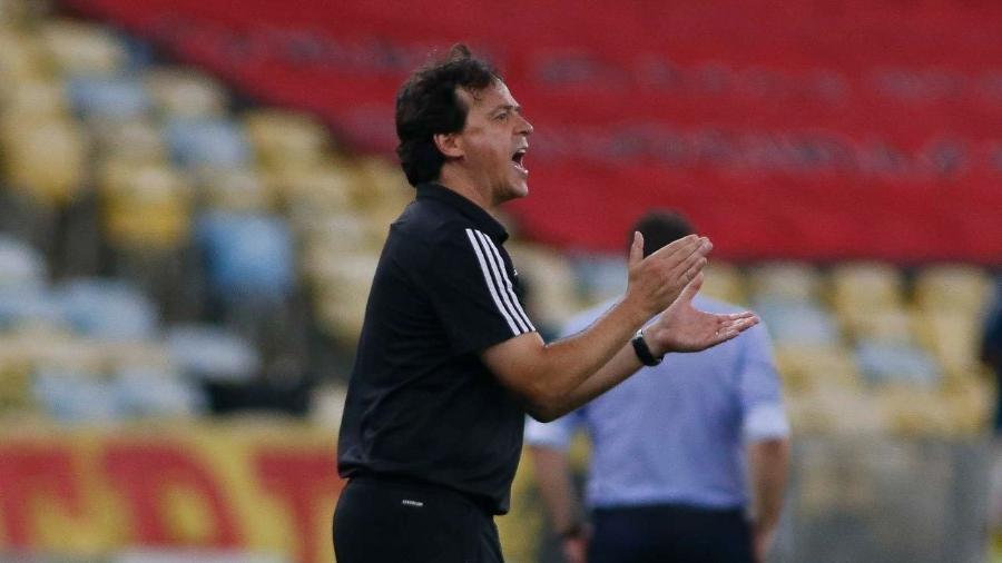 Fernando Diniz, durante partida entre São Paulo e Flamengo - Divulgação/São Paulo