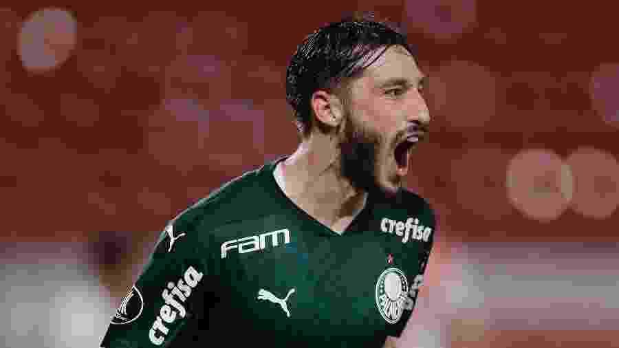 Matias Viña comemora gol do Palmeiras contra o River Plate - Juan I. Roncoroni ? Pool/Getty Images