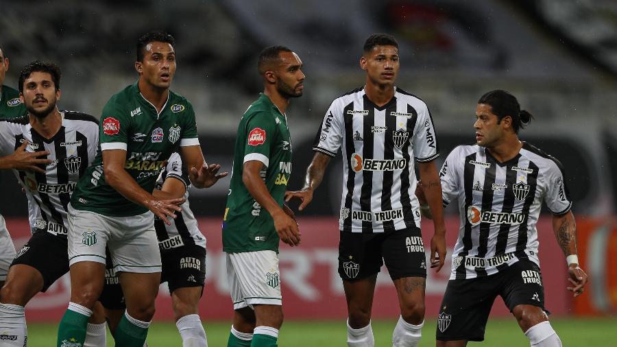 Hulk em sua estreia pelo Atlético-MG, em jogo contra o Uberlândia pelo Mineiro 2021 - Pedro Souza / Atlético