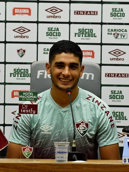 Michel Araújo durante coletiva de imprensa - Mailson Santana/Fluminense FC