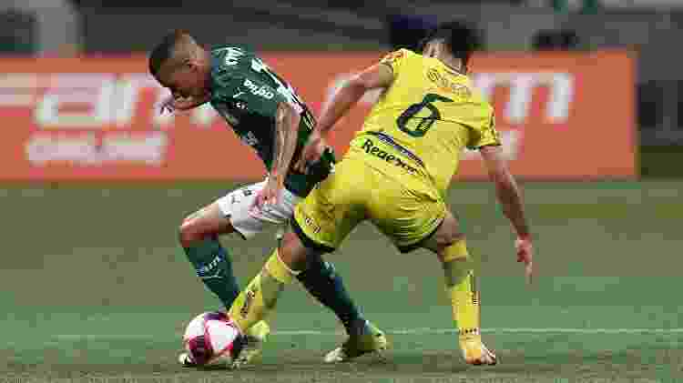 Lance do jogo entre Palmeiras e Mirassol, em partida válida pelo Campeonato Paulista - Cesar Greco/Palmeiras - Cesar Greco/Palmeiras