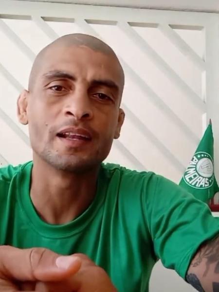 Ex-presidente da Mancha Alviverde, principal torcida organizada do Palmeiras, Jânio Carvalho dos Santos - Reprodução/Instagram
