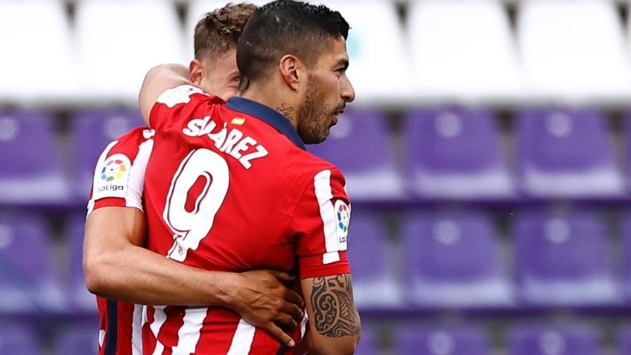 Luis Suárez celebra gol diante do Real Valladolid, pela última rodada do campeonato espanhol - REUTERS/Juan Medina