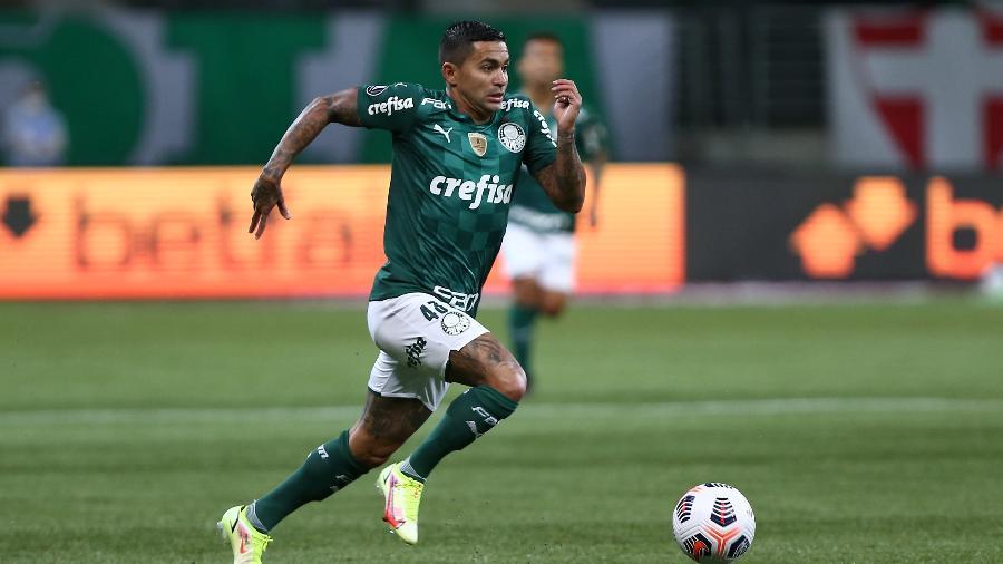 Dudu em ação durante o duelo entre Palmeiras x Atlético-MG - Conmebol