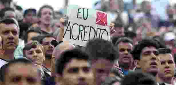 Torcedores continuam mantendo a fé na permanência do Vasco na Série A  - Paulo Fernandes / Site oficial do Vasco