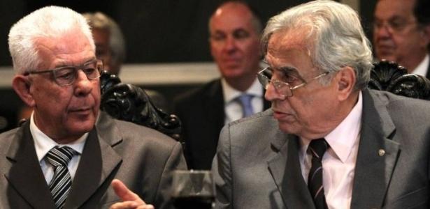 Horta (e) e Eurico (d) foram aliados e agora são rivais: ambos são candidatos no Vasco