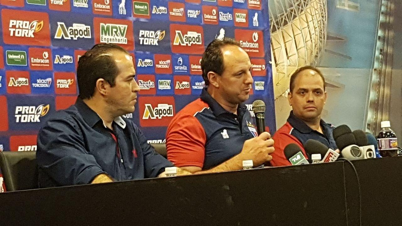 Rogério Ceni fala como técnico do Fortaleza