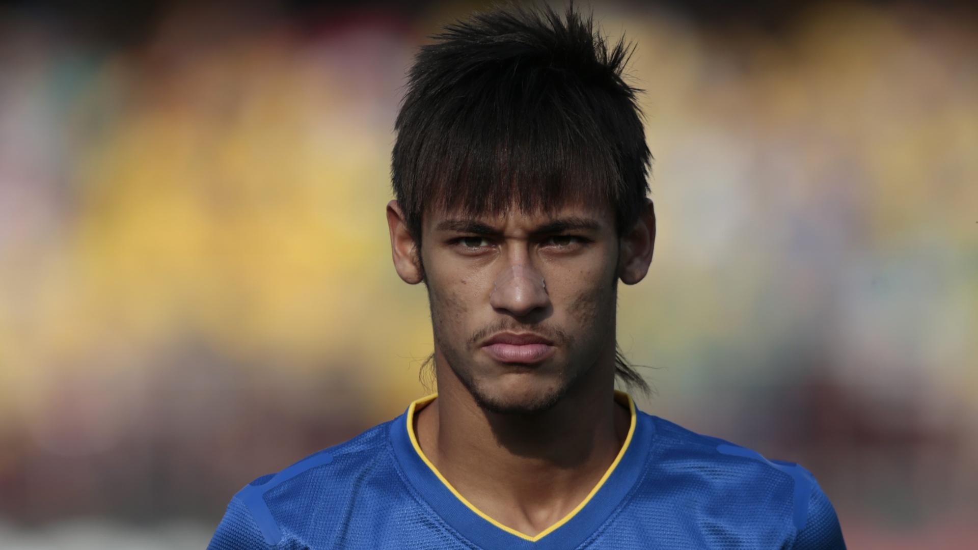Neymar em amistoso da seleção brasileira, em setembro de 2012