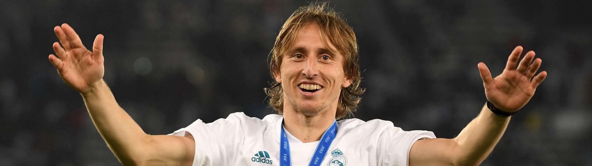 Luka Modric comemora título do Mundial de Clubes pelo Real Madrid